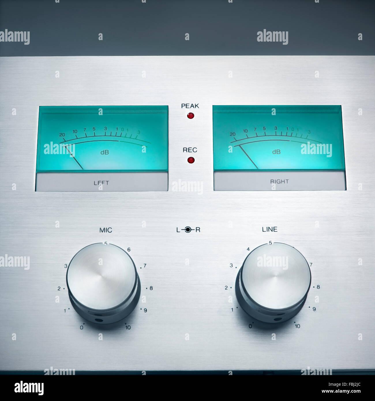 Hi-Fidelity tape deck controls - Stock Image