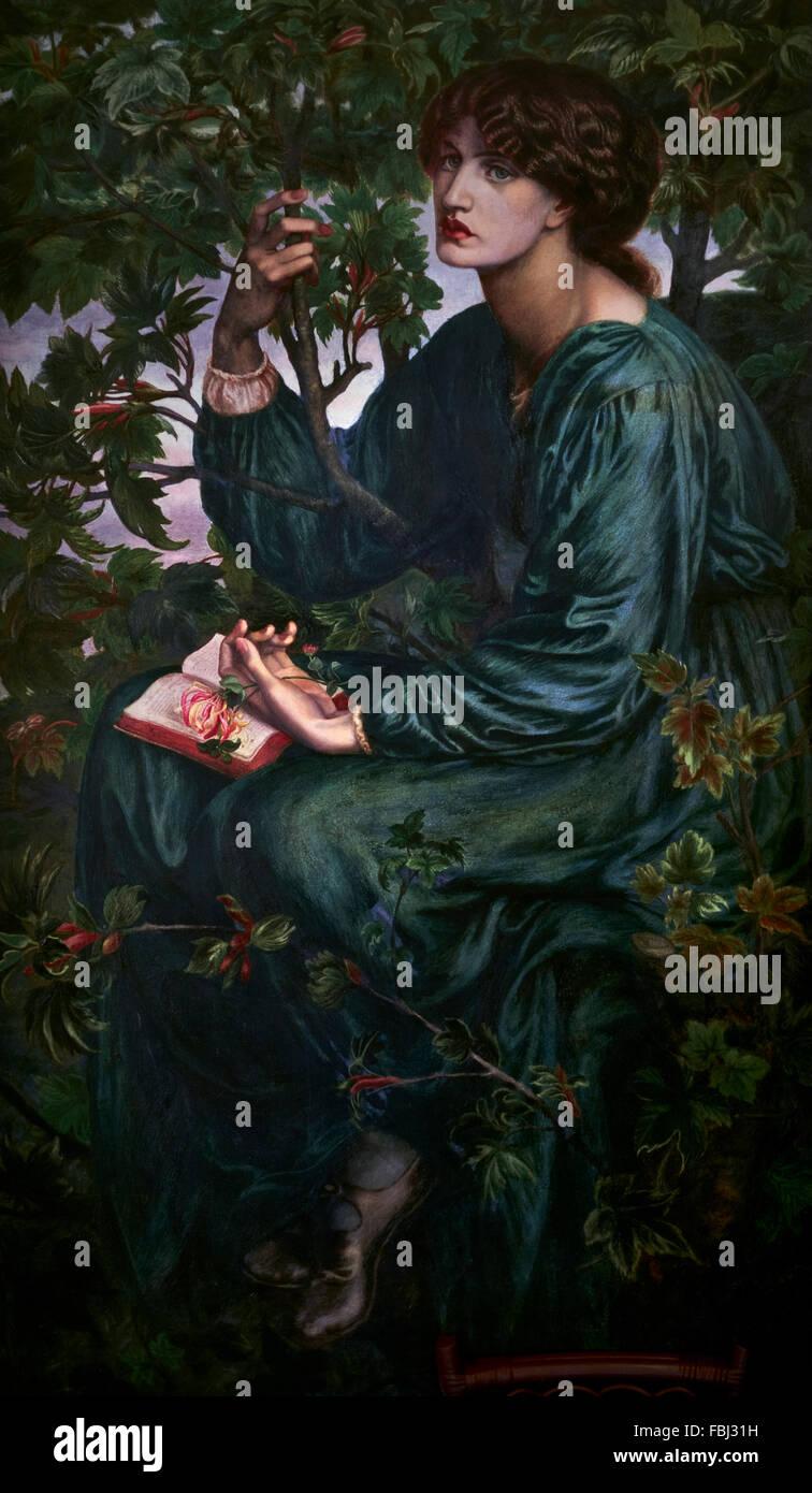'The Day Dream' Dante Gabriel Rossetti. - Stock Image