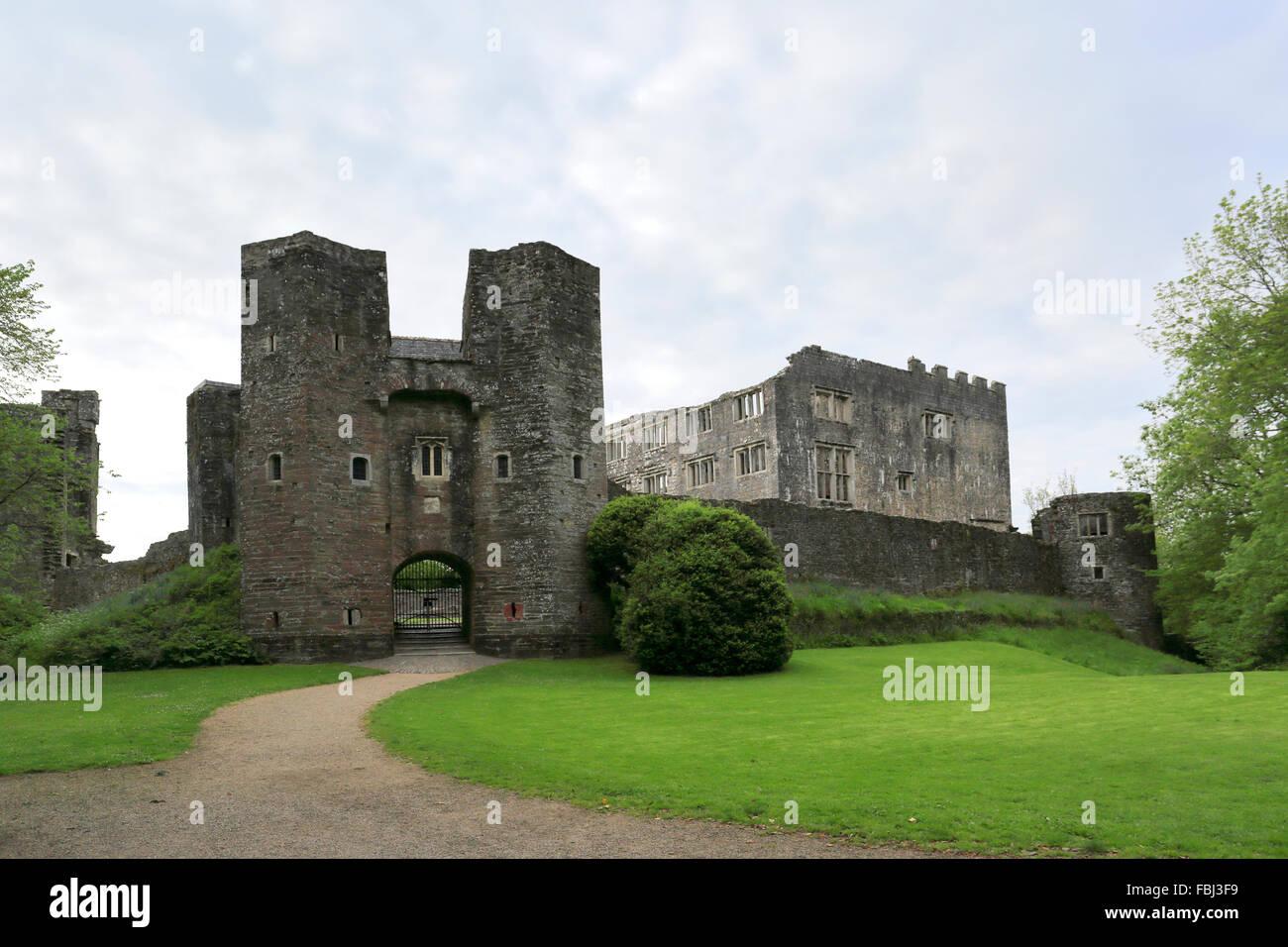 Berry Pomeroy ruined castle, near Totnes Market town, Devon County, England, UK - Stock Image