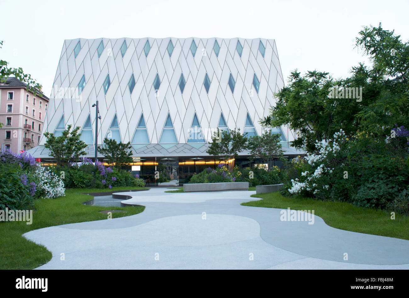 Museum for ethnology, Geneva, Switzerland - Stock Image