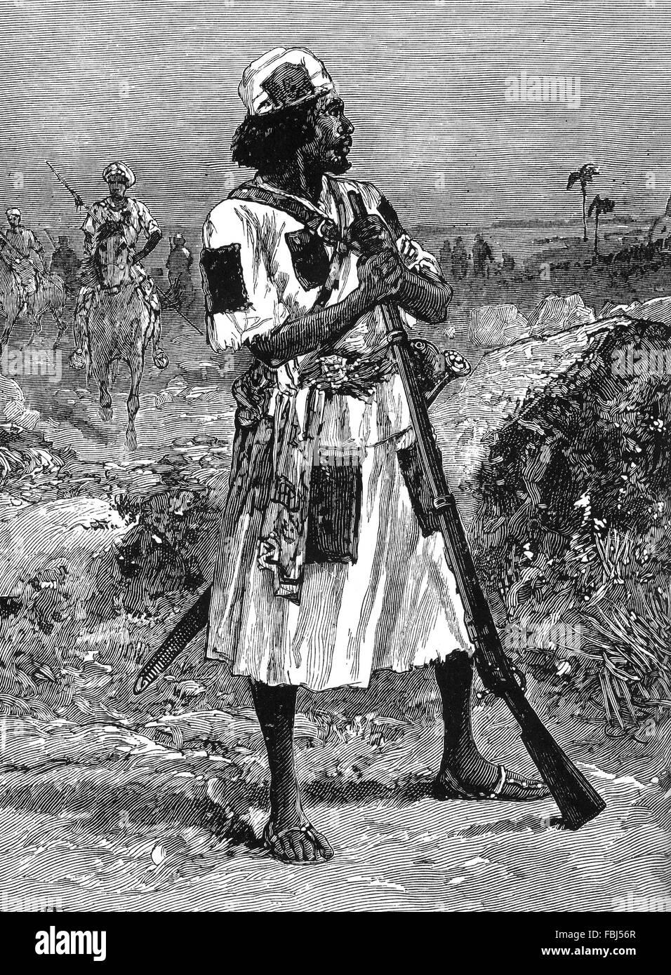 MAHDI DERVISH  about 1876 - Stock Image