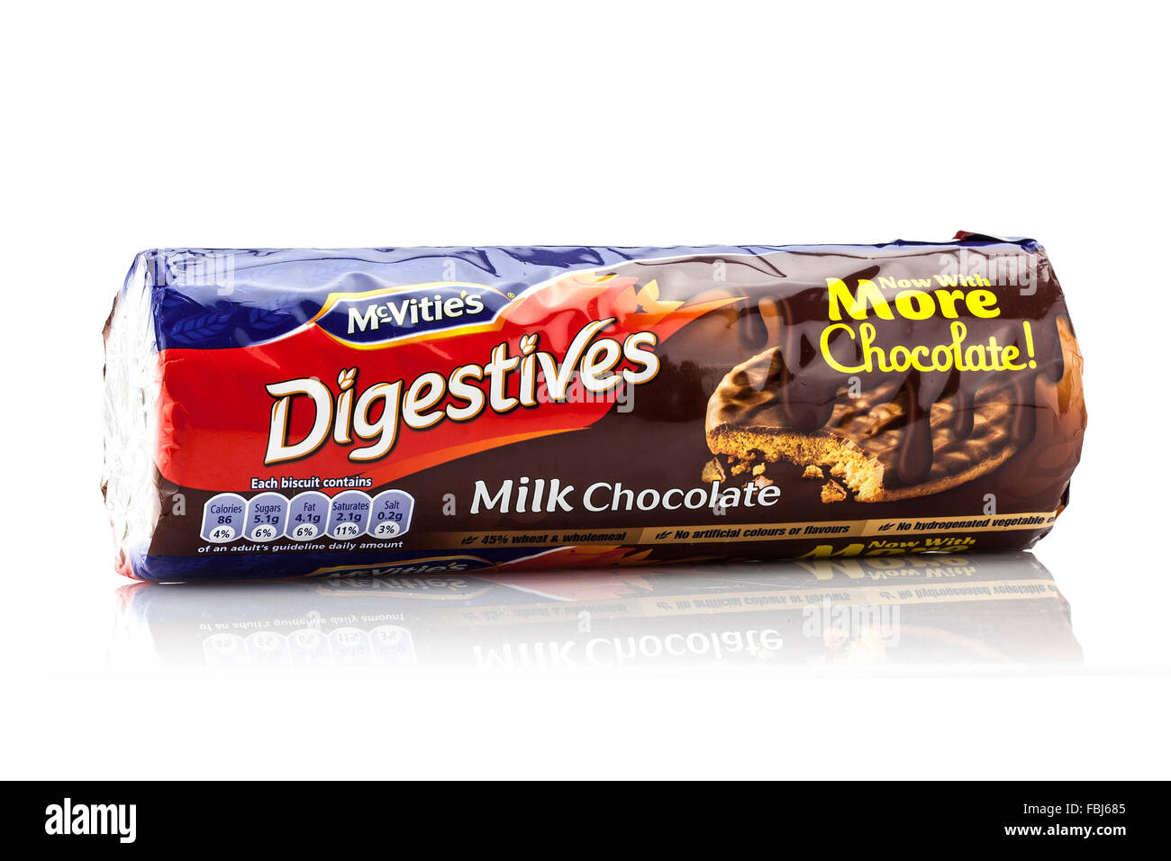 A Packet Of Mcvities Milk Chocolate Digestive Biscuits On A