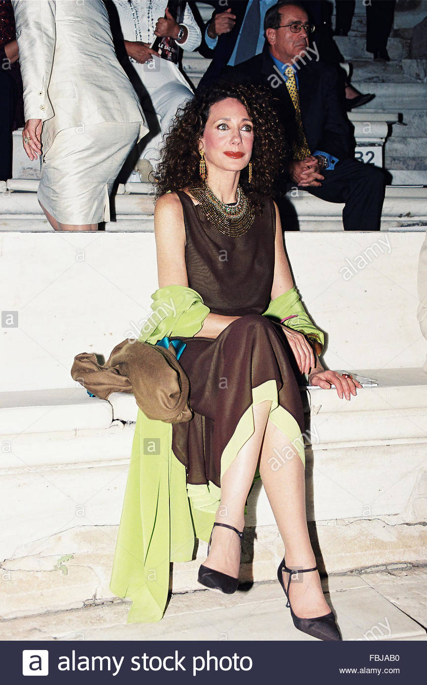 Marisa Berenson  in Athens Greece - Stock Image