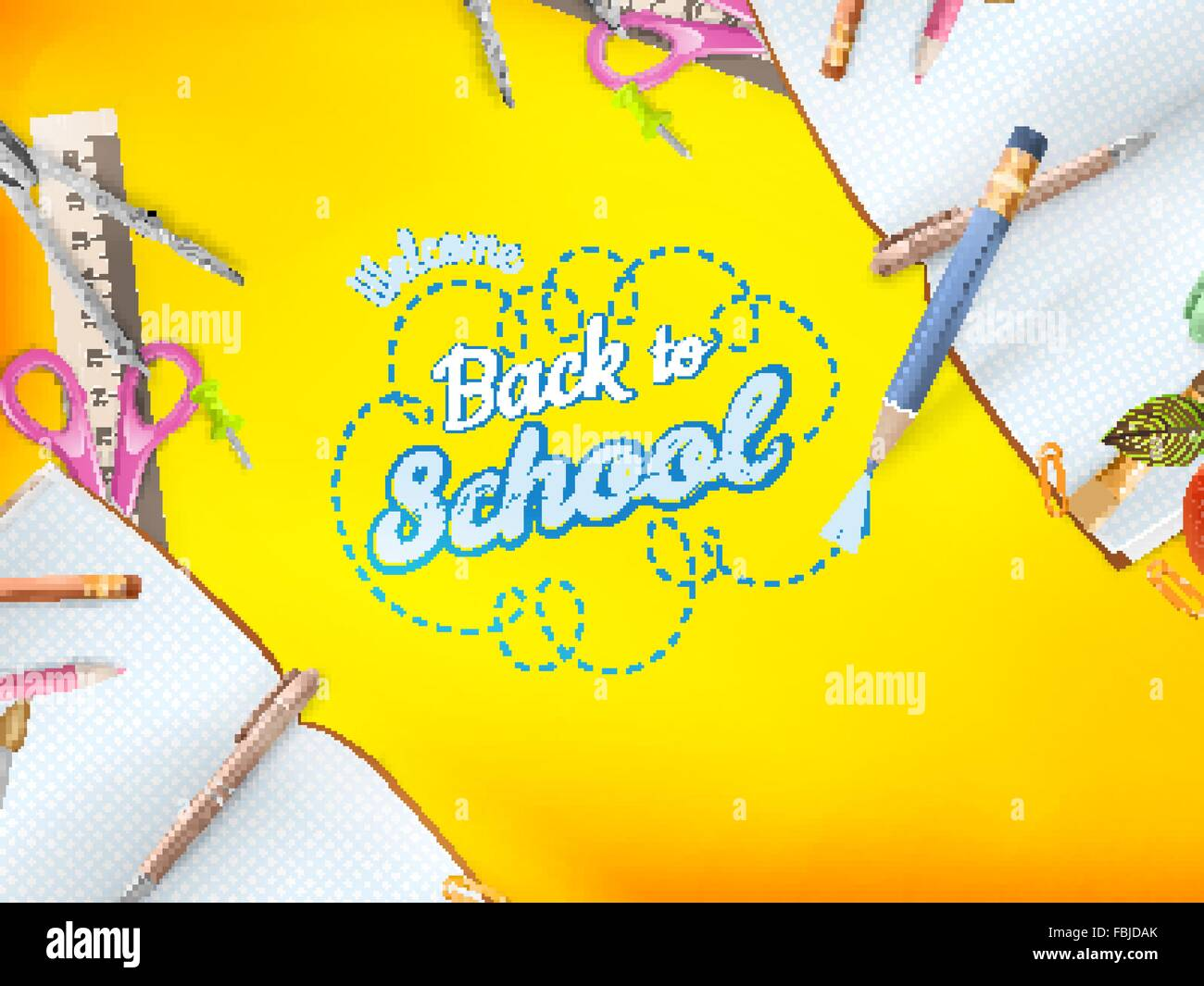 Welcome back to school greeting card eps 10 stock vector art welcome back to school greeting card eps 10 m4hsunfo