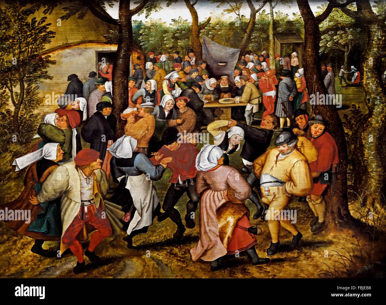 Wedding Dance in the Open Air 1614 PIETER BRUEGHEL THE YOUNGER 1616-1647 Flemish Belgian Belgium - Stock Image