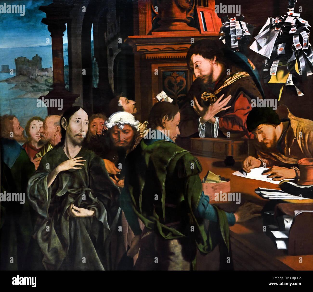 The Conversion of Saint Matthew  1536 Marinus van Reymerswale - Reimerswaal 1490 - 1567 Dutch Netherlands - Stock Image