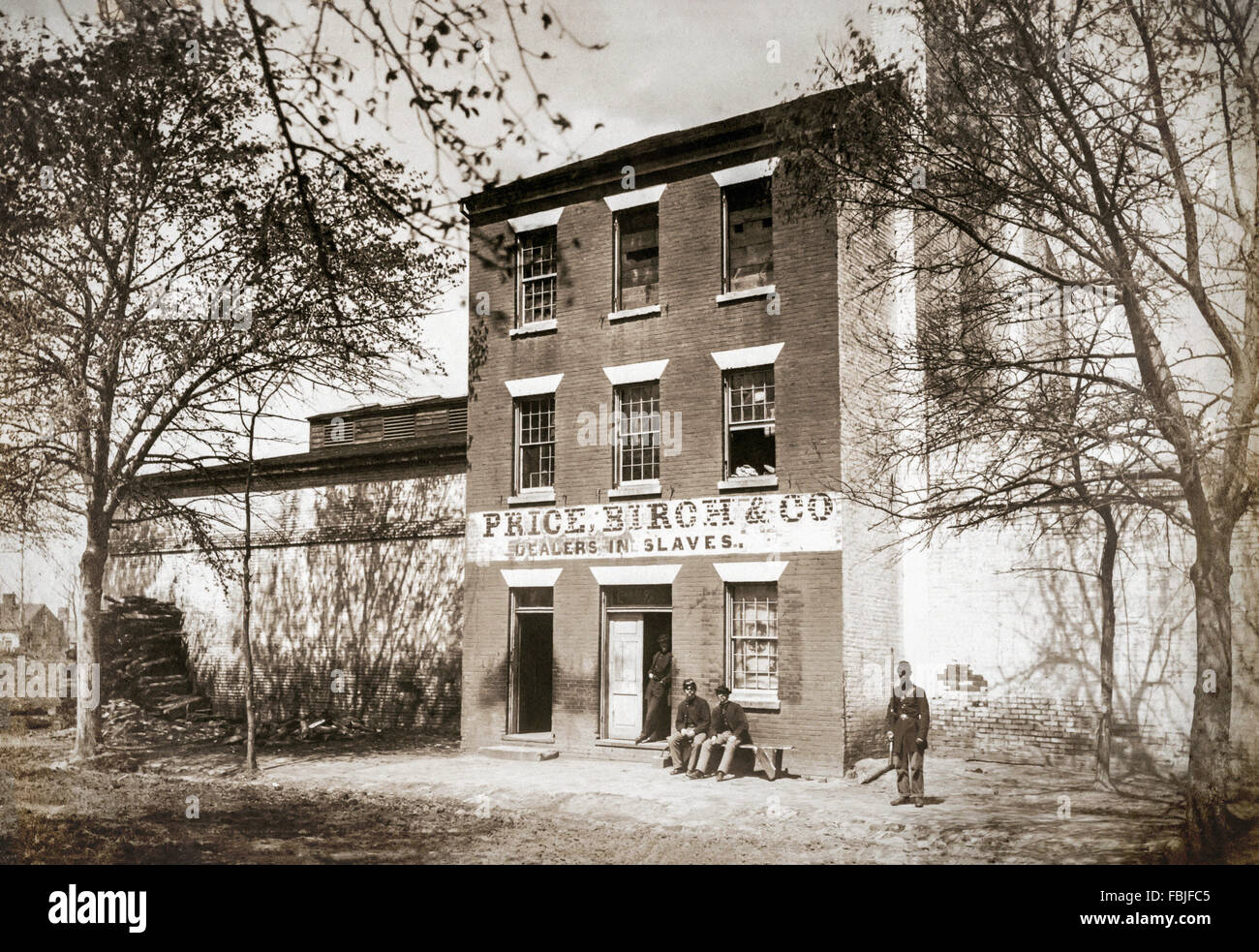 Price Birch & Company (previously Franklin and Armfield), the largest slave dealers in the antebellum south - Stock Image