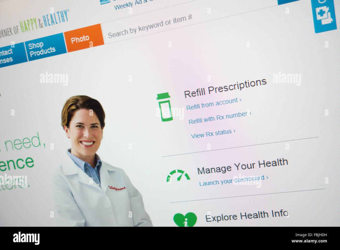 online prescription web site - Stock Image