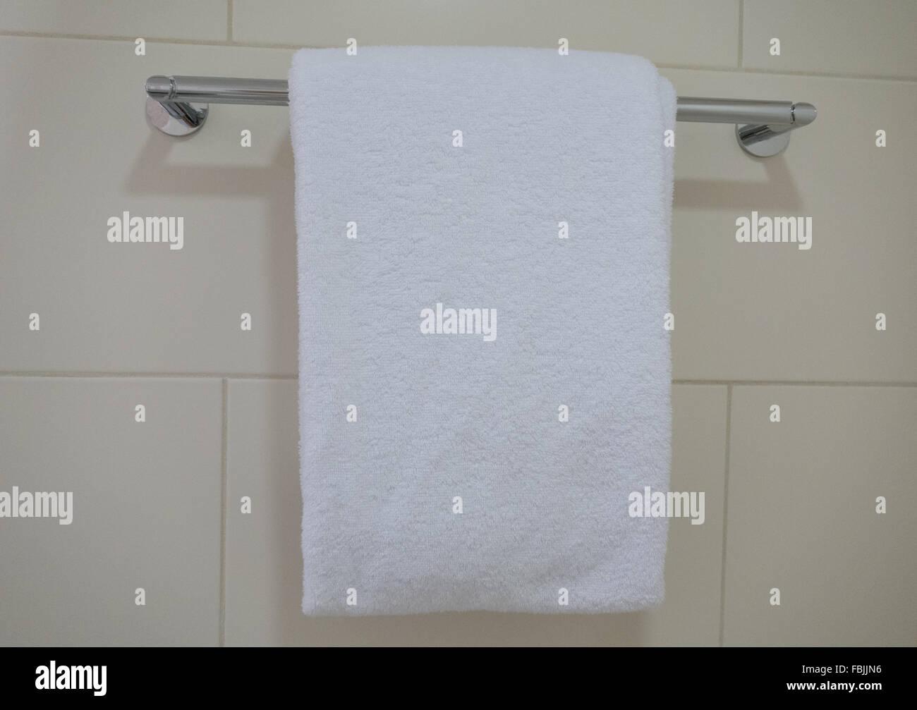 hanging bath towel Stock Photo 93222898 Alamy