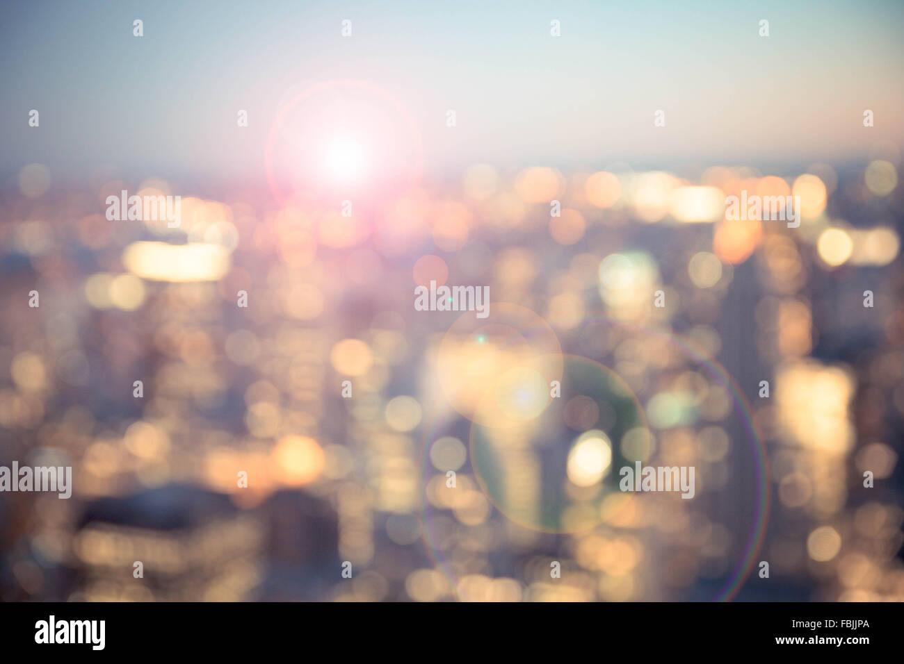 Defocused blur of New York City buildings - Stock Image