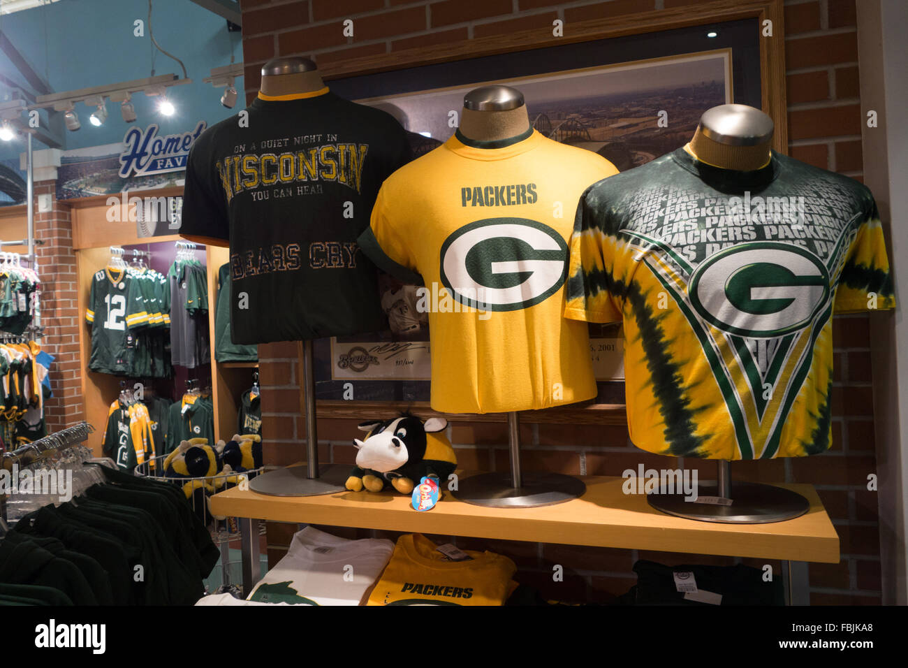 green bay packer gift shop - Stock Image