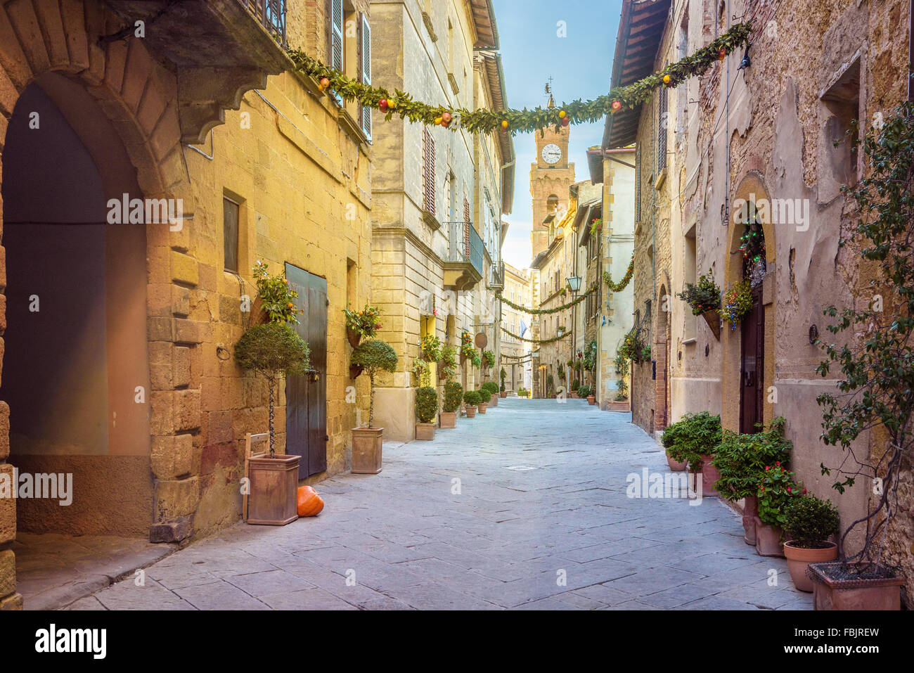 Beautiful places in the magical tiny town - Stock Image