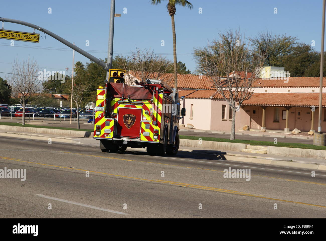 Tucson ariz usa17th jan 2016 fire truck at the scene of a stock tucson ariz usa17th jan 2016 fire truck at the scene of a rollover accident in front of flowing wells high school on prince road in tucson arizona usa freerunsca Choice Image