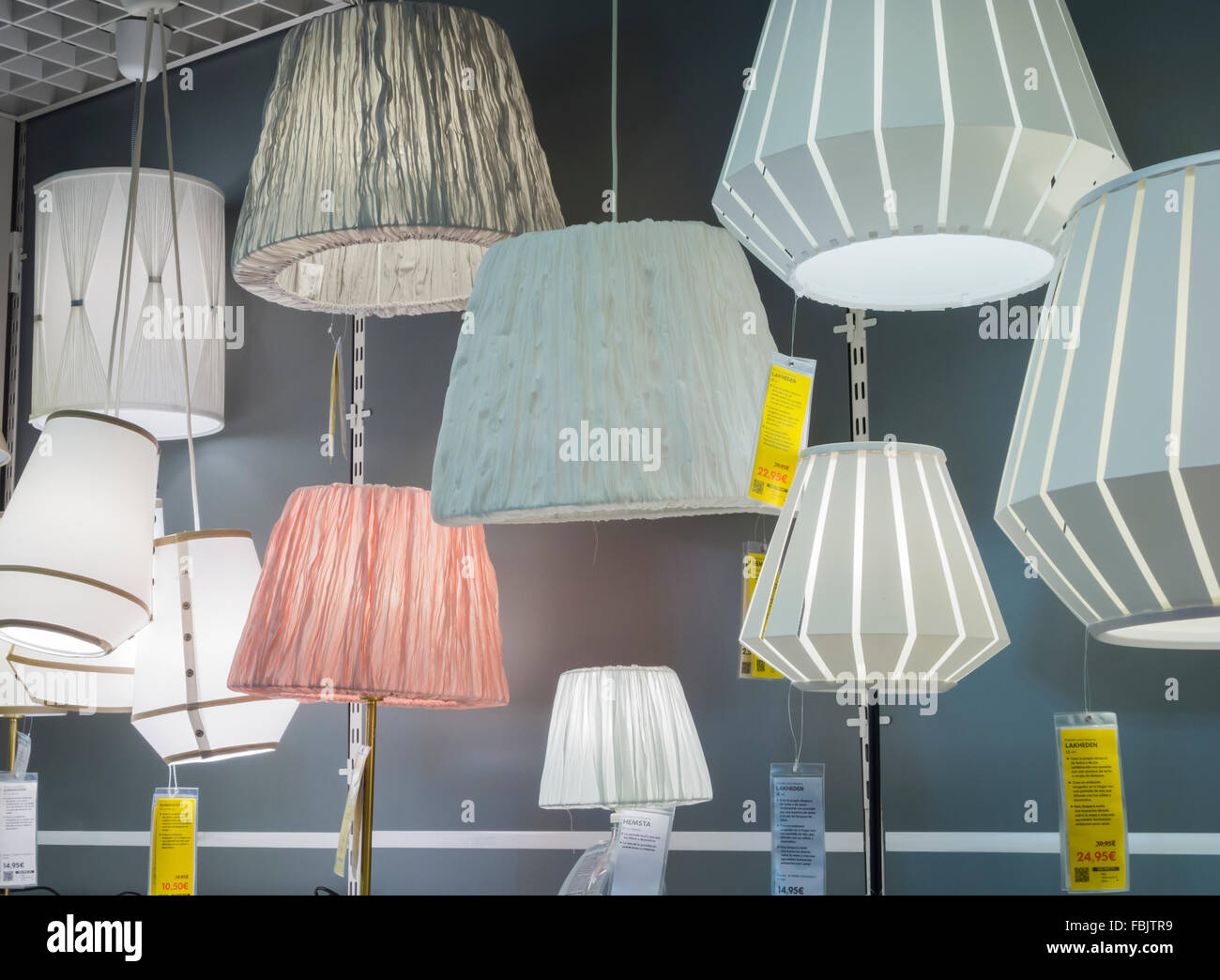 lighting at ikea. Lighting Display In Ikea Store, Spain At A