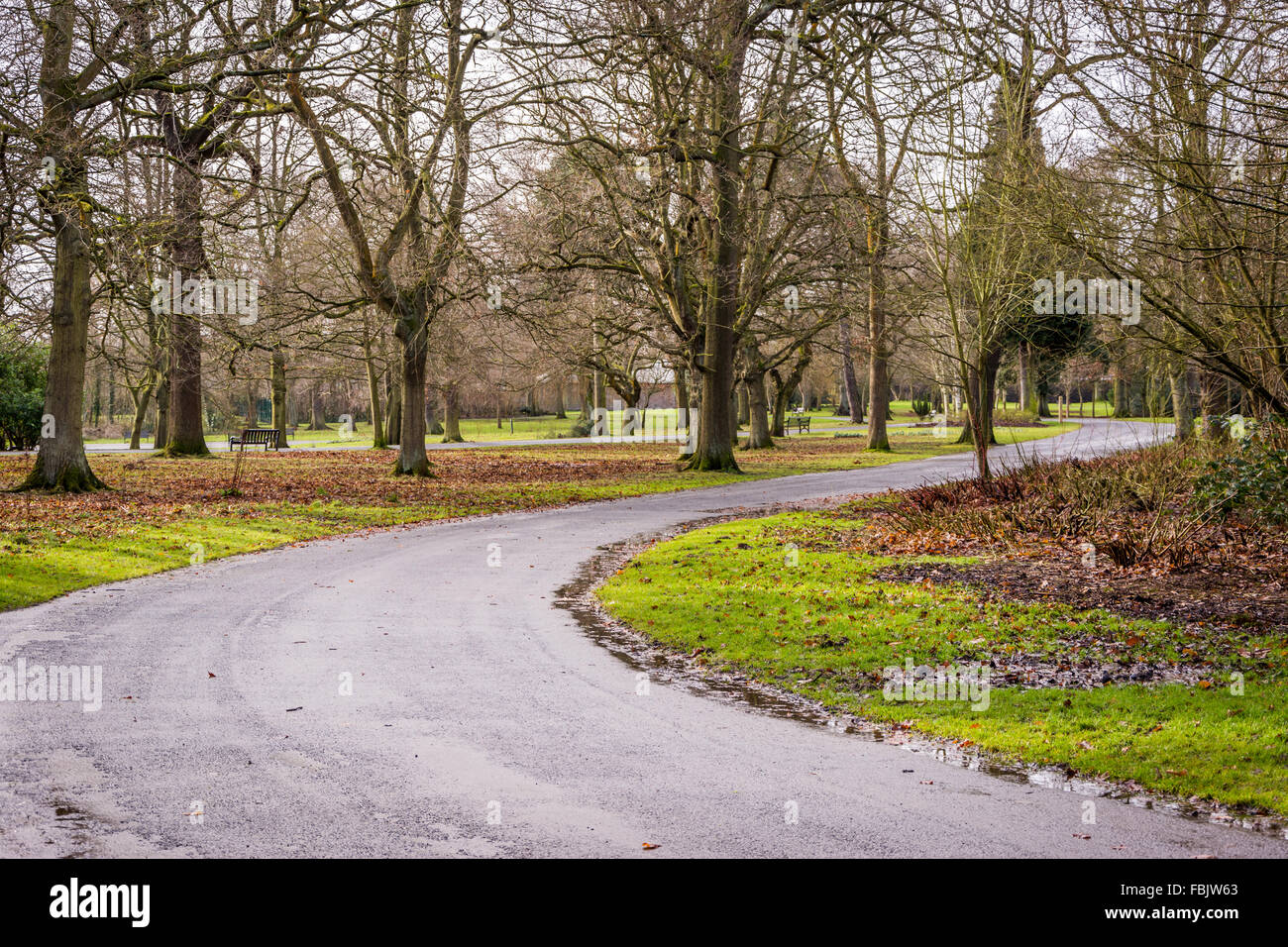 Winding Path In City Park Stock Photos & Winding Path In City Park ...