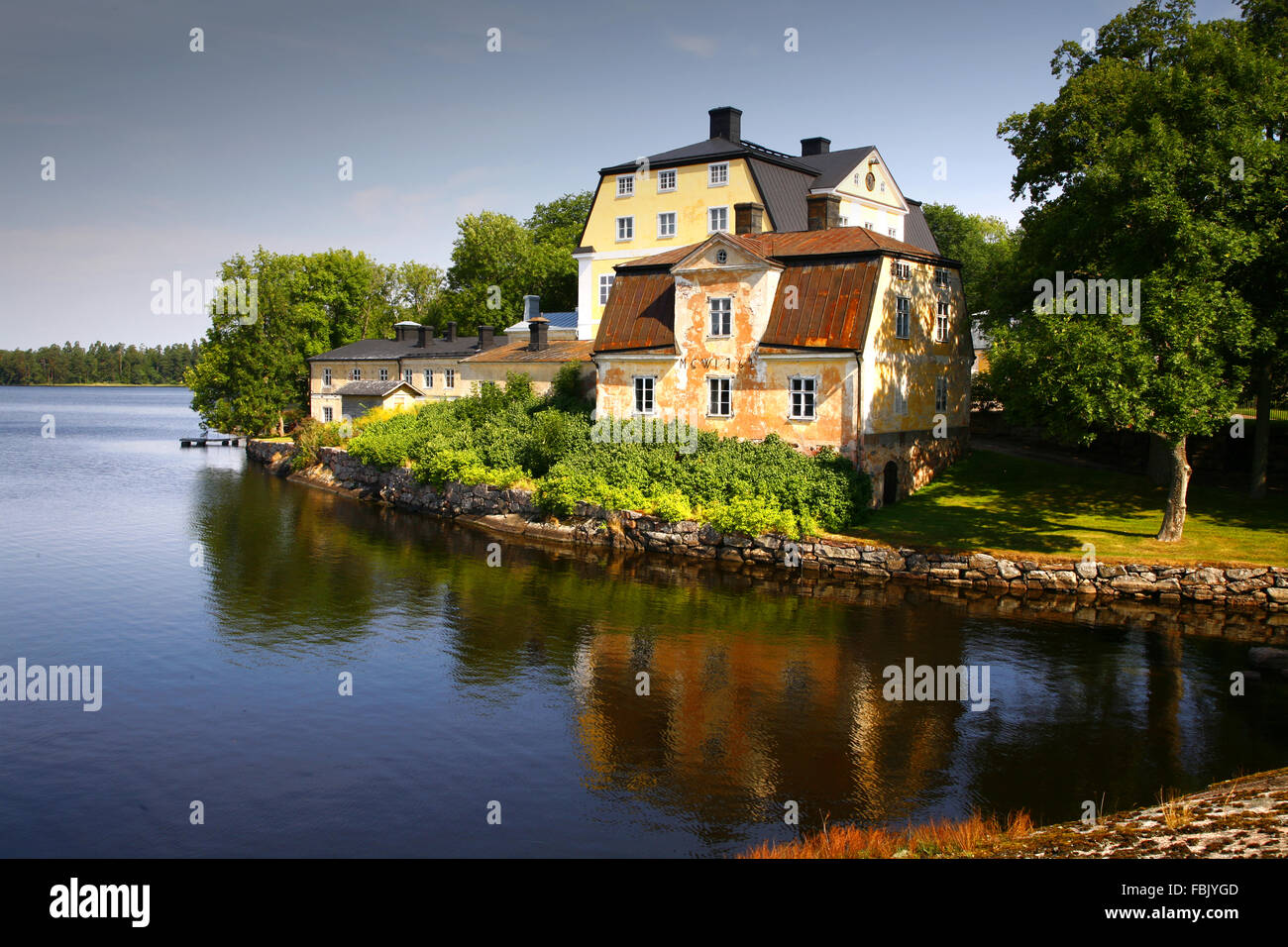 Fagervik Mansion (Kartano Gård), Inkoo Finland Suomi Stock Photo