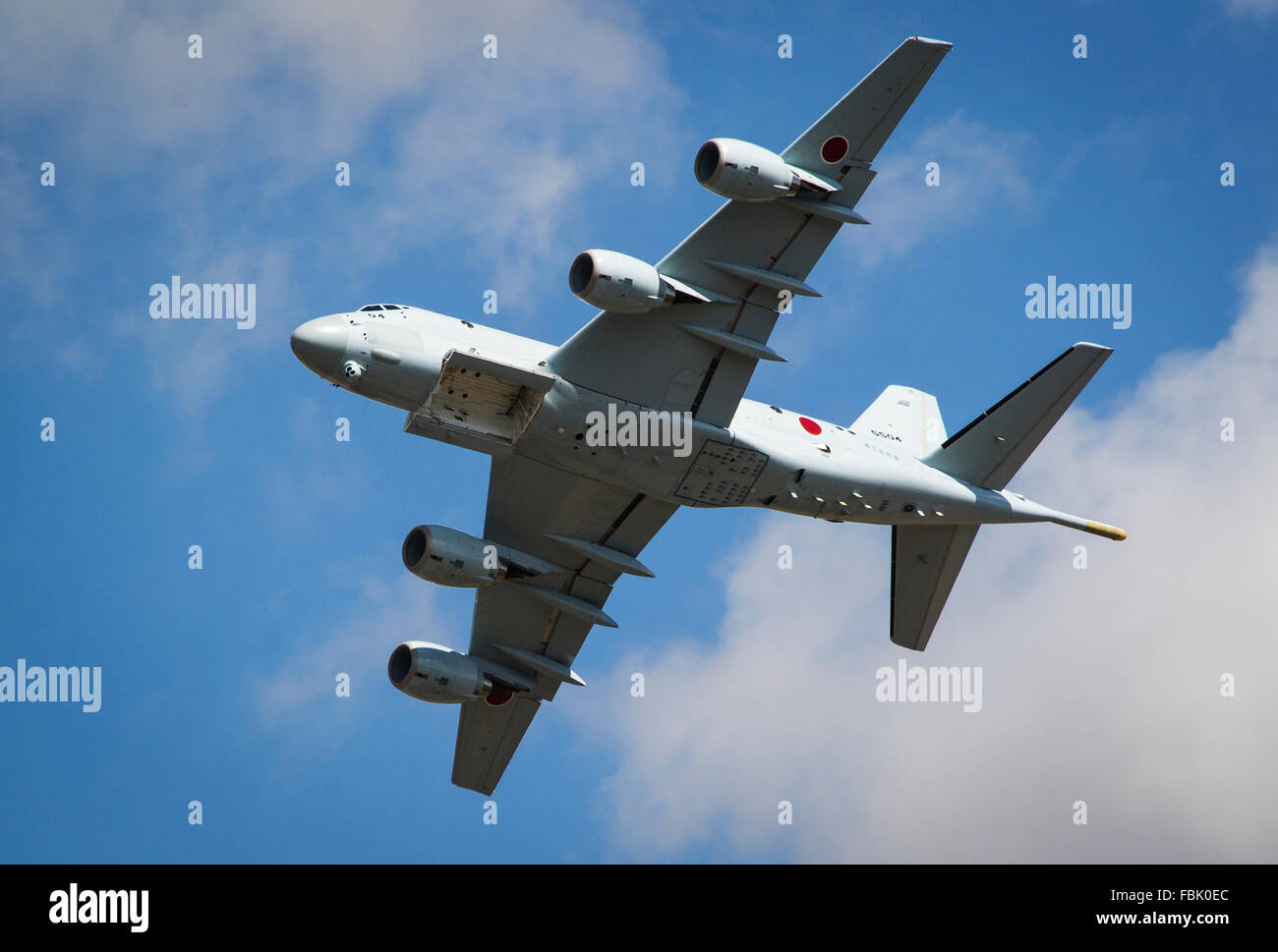 Japanese bomber jet aeroplane with bomb doors open at RIAT 2015 air show. International Air tattoo & Japanese bomber jet aeroplane with bomb doors open at RIAT 2015 air ...