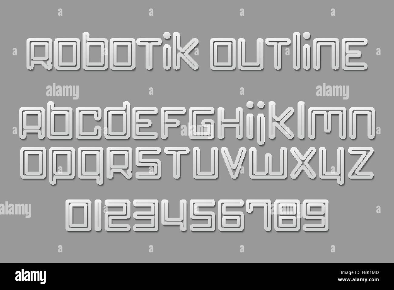 set of stylish, 3d alphabet letters and numbers isolated on gray background. vector font type labels design