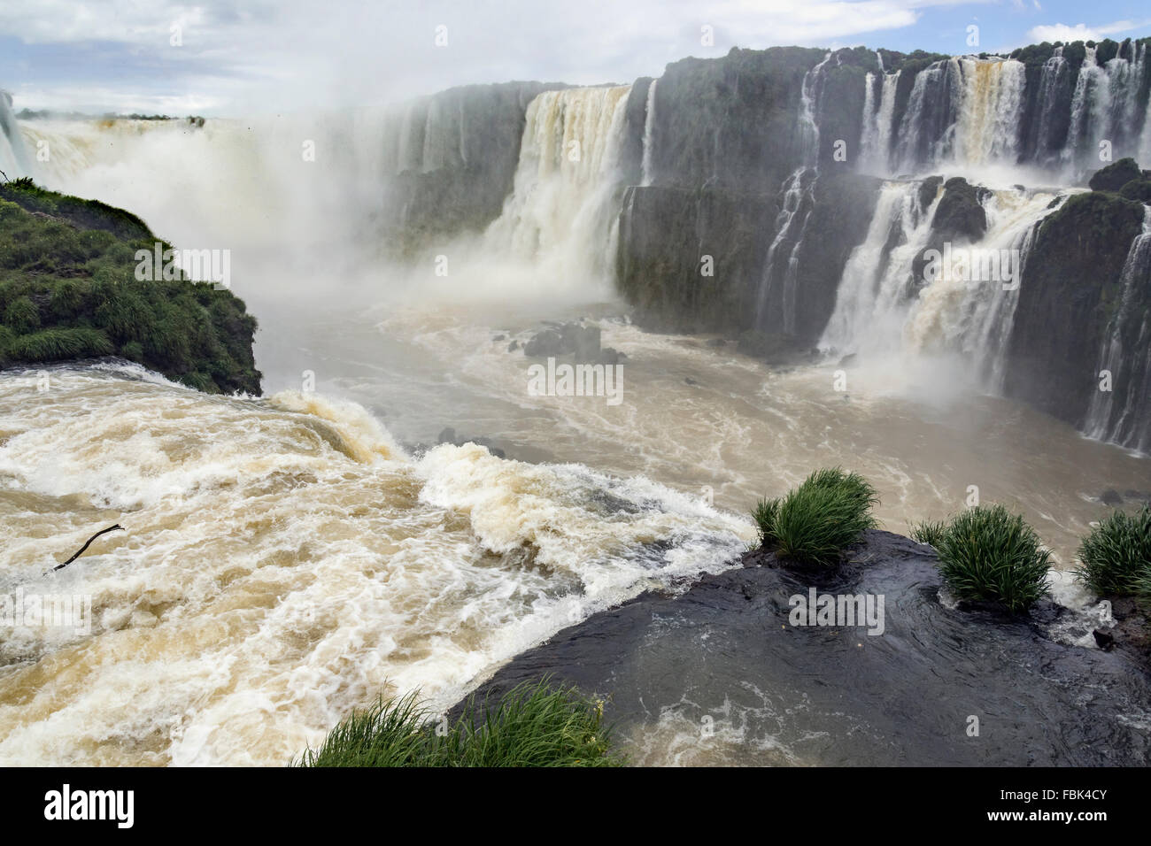 Devil's Throat from the end of the walkway, Foz do Iguacu, Brazil side - Stock Image