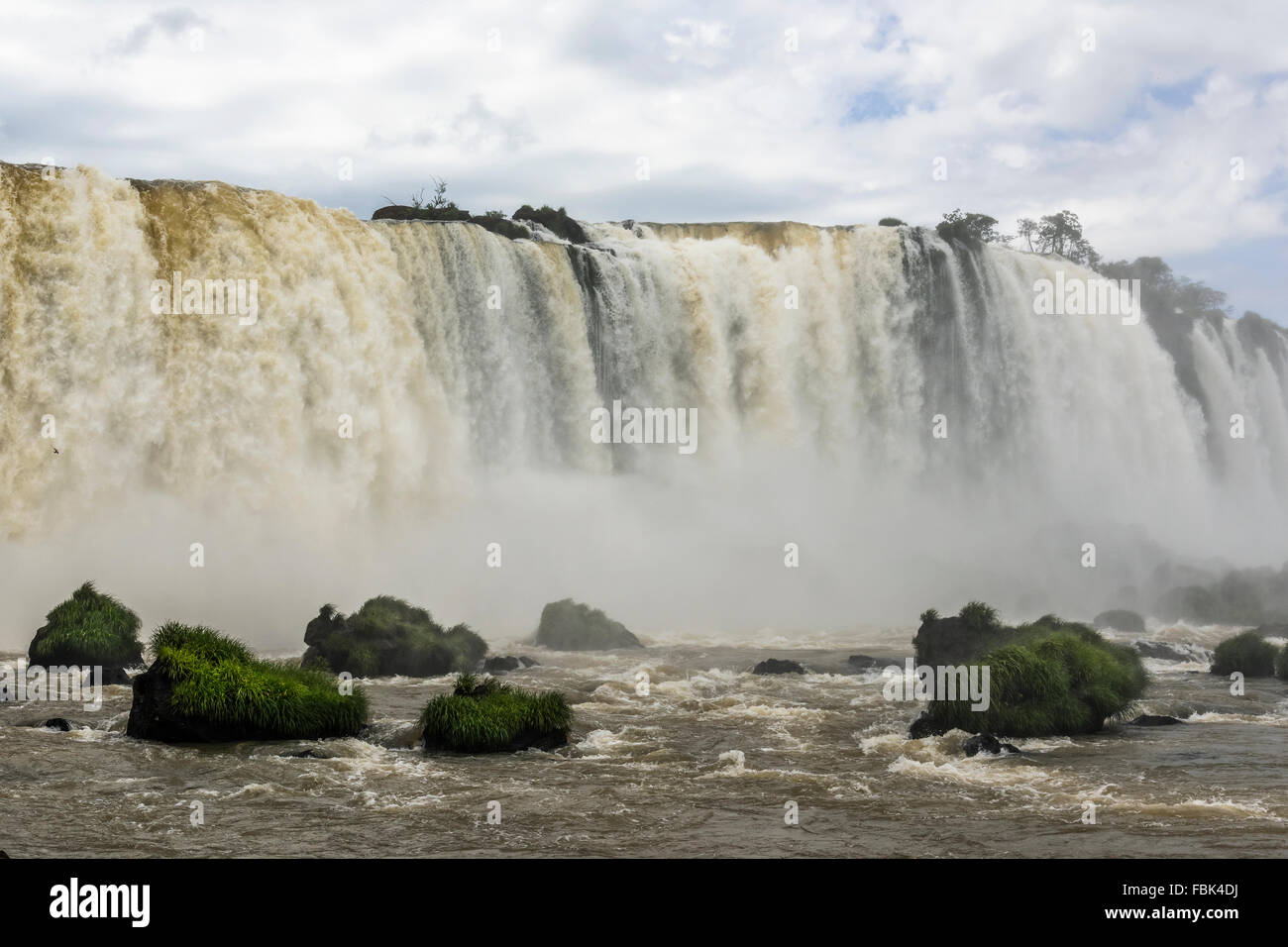Foz do Iguacu, Brazil side near the walkway to Devil's Throat - Stock Image