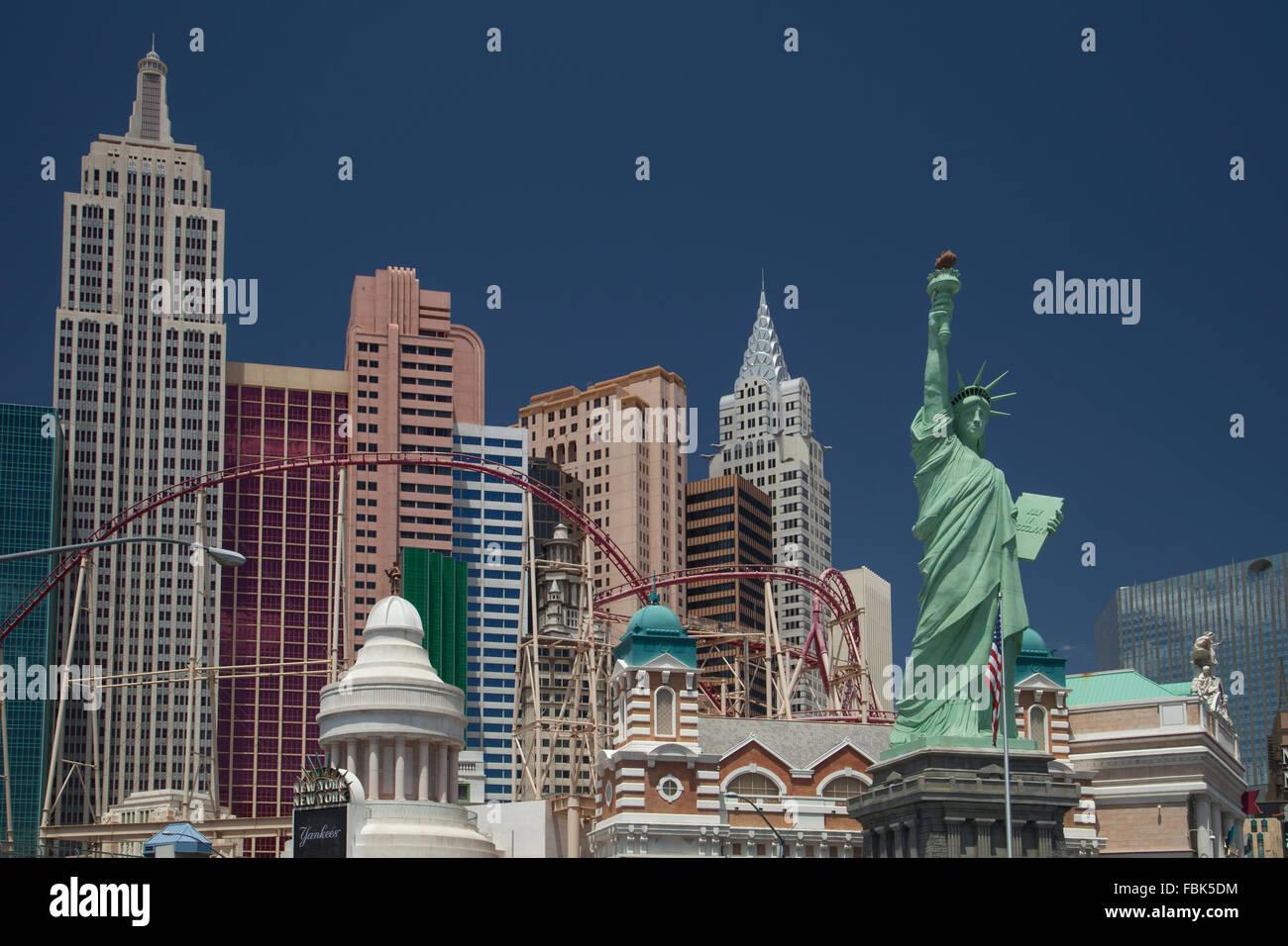New York New York Casino - Las Vegas - Stock Image