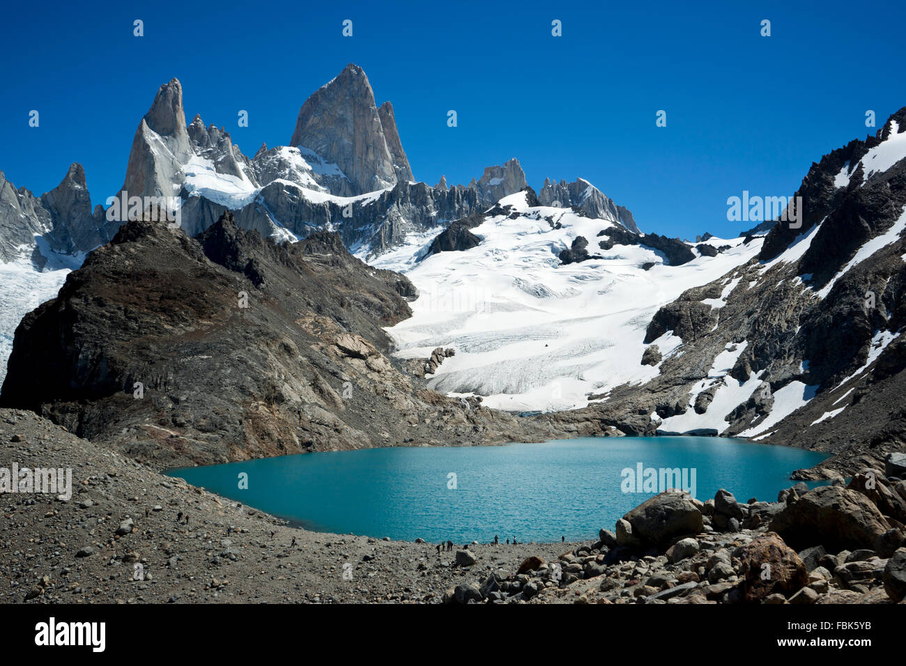 Patagonia; W Trek; Torres del Paine; Argentina; Landscape; Nature; Lake; Trekking; Adventure; Mountain; - Stock Image