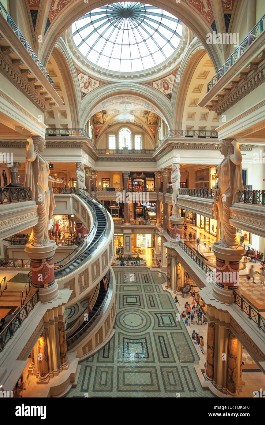 The Forum shopping mall at Ceasars Palace Hotel and Casino, Las Vegas - Stock Image