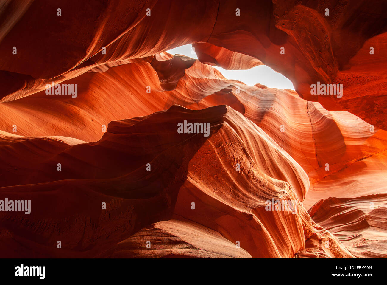 The Howling Wolf rock at Upper Antelope Canyon, Page, Arizona - Stock Image