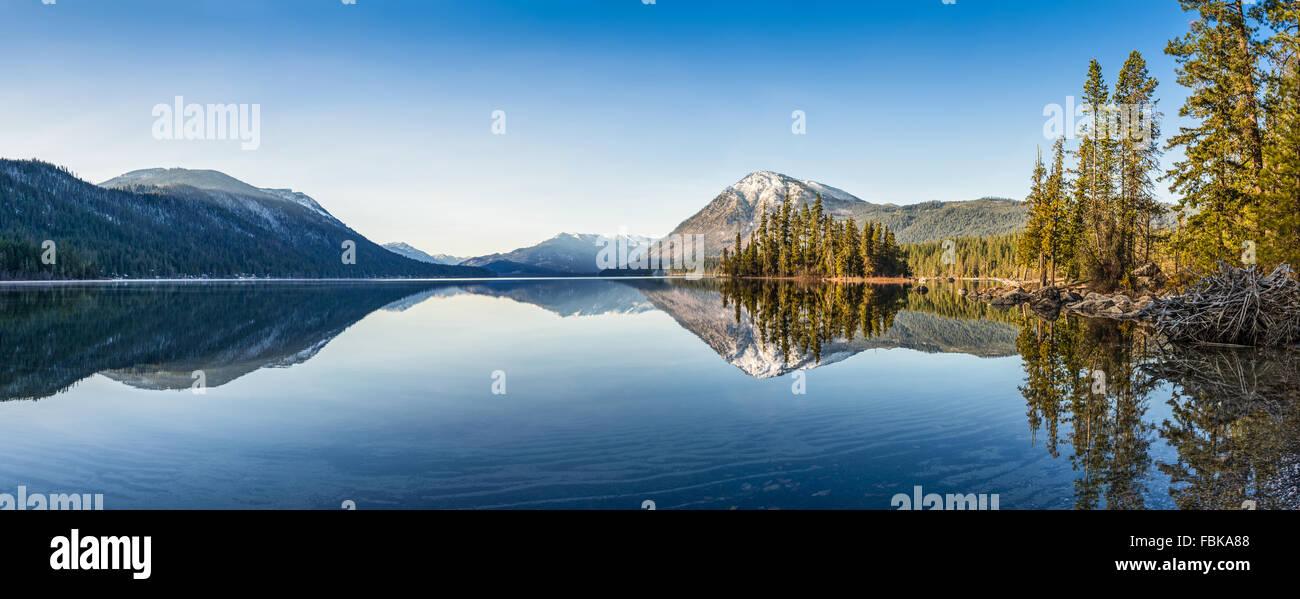 Lake Wenatchee in Washington State. - Stock Image