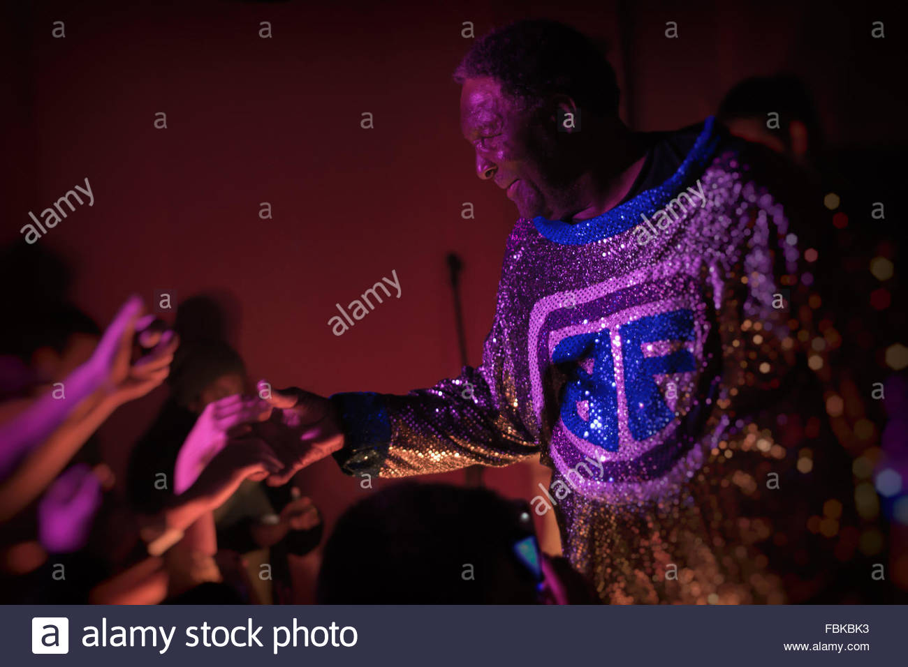 Clarence Reid. Dirty singer, rapper & pioneer know as Blowfly at the Smiling Buddha in Toronto, September 19, 2014. Stock Photo