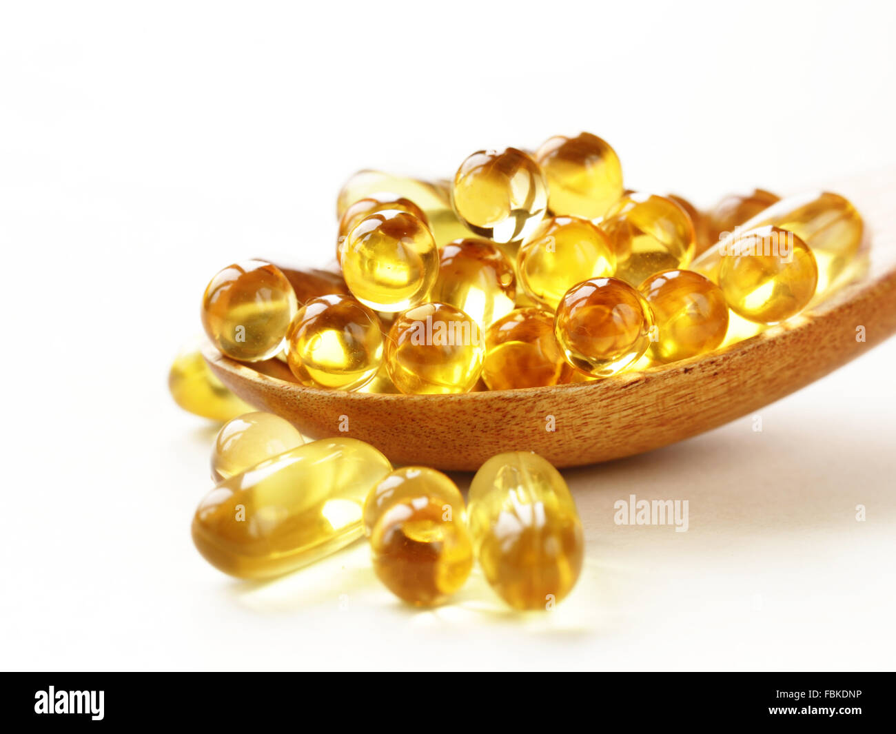 Fish Oil And Spoon Stock Photos & Fish Oil And Spoon Stock