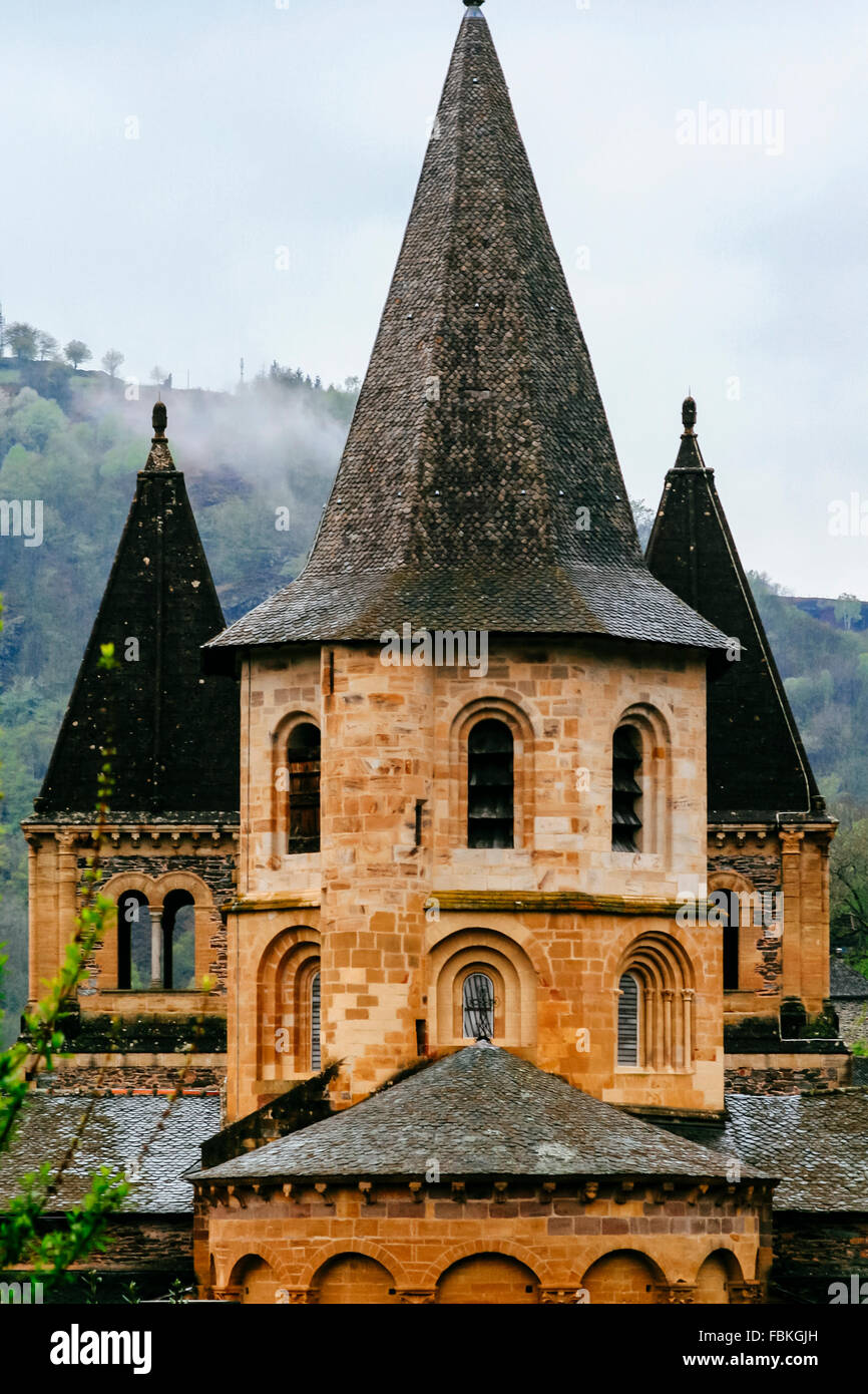 Church of Saint-Foy, Conques, France, part of the Camino de Compostela - Stock Image