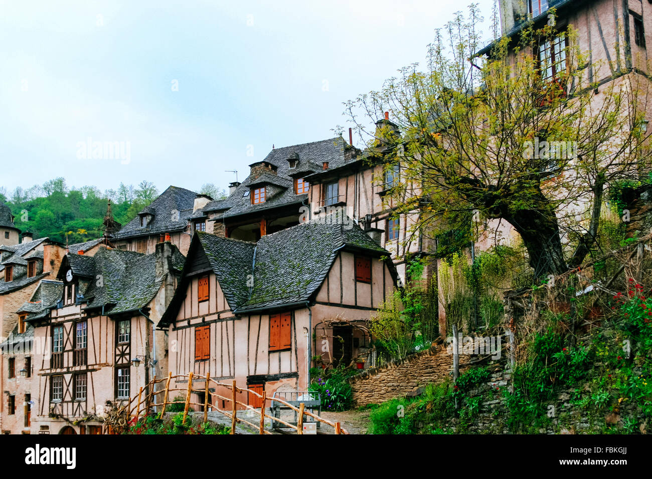 Conques, France, part of the Camino de Compostela - Stock Image
