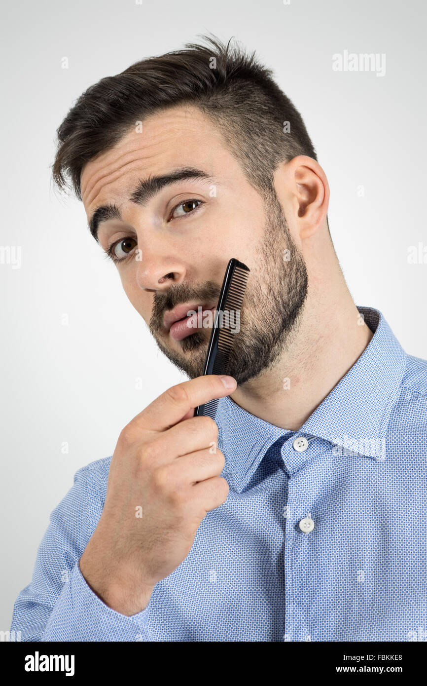 Man Combing Hair Funny Stock Photos Man Combing Hair Funny