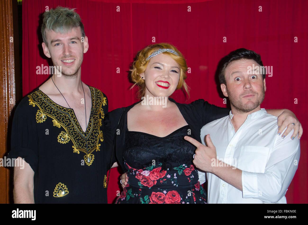 Sydney, Australia - 18th January 2016: VIP's and Celebrities arrive at Paddington RSL for the Sydney Theatre - Stock Image