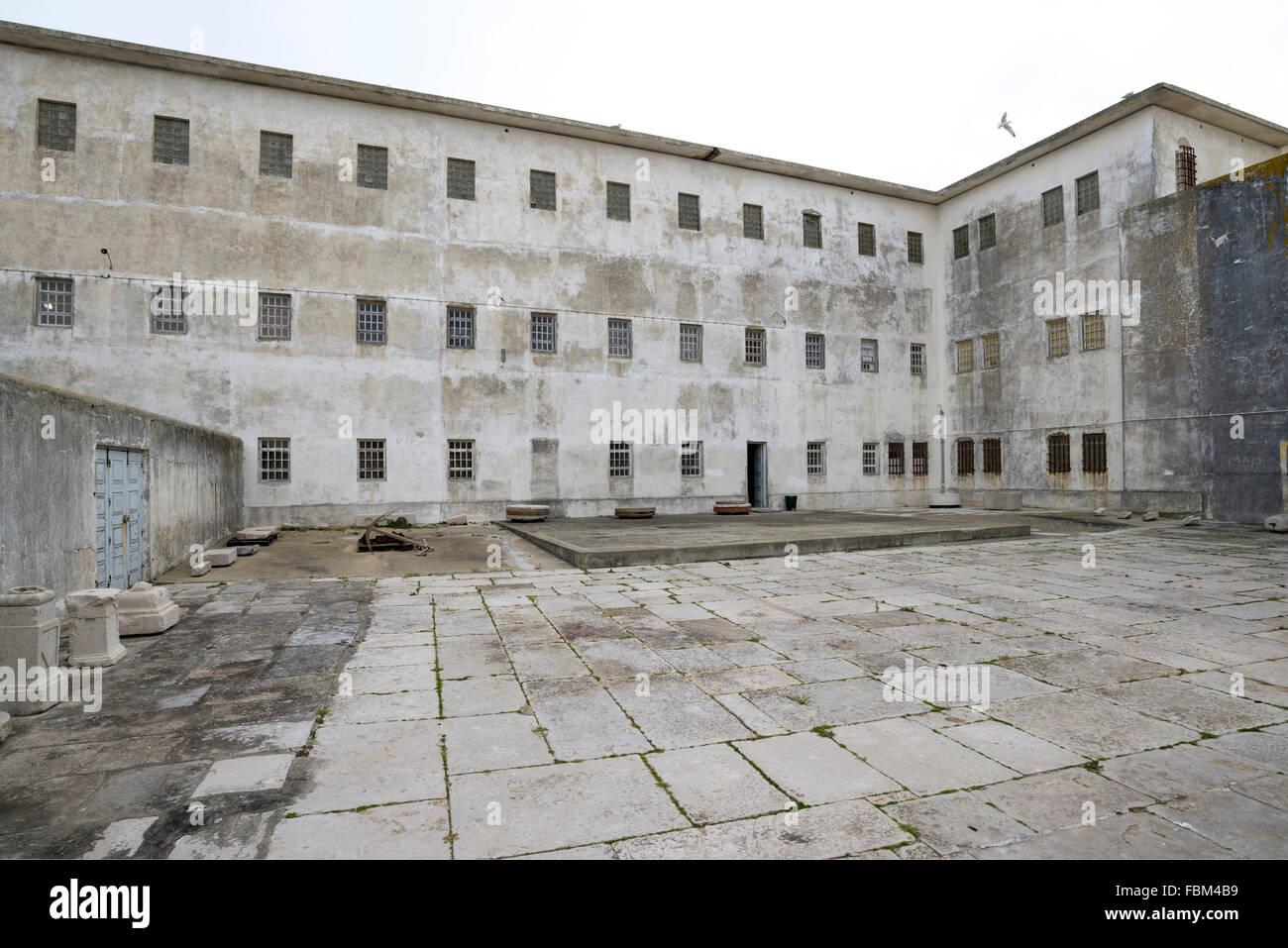 A former political prison in Peniche, Portugal. - Stock Image