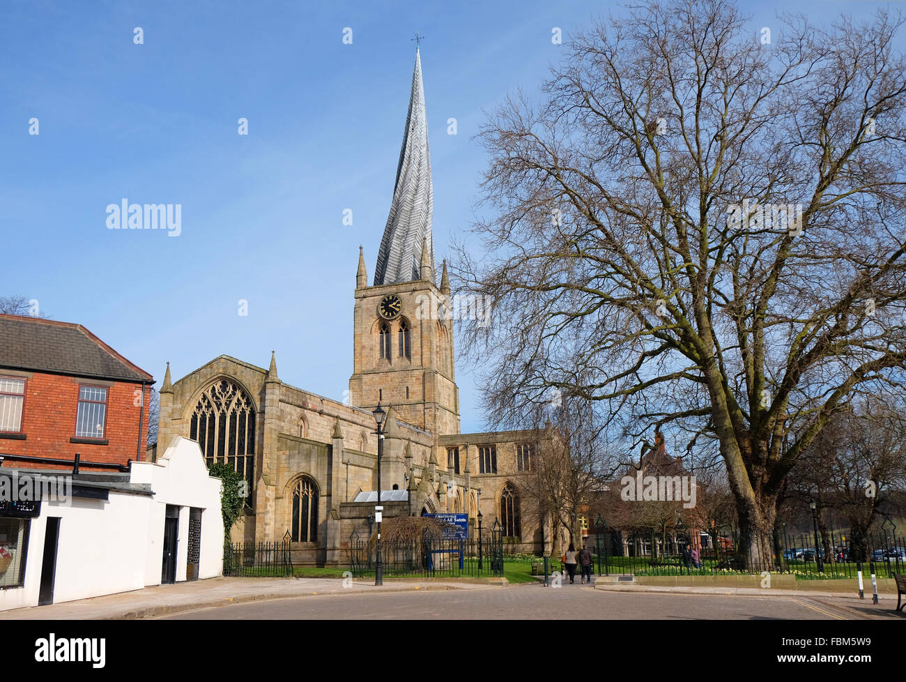 Crooked Spire at Chesterfield - Stock Image
