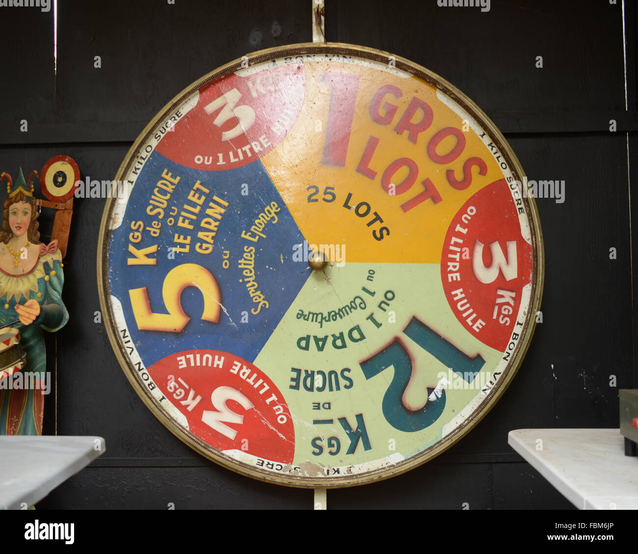 Wheel Of Fortune In Shop For Sale - Stock Image