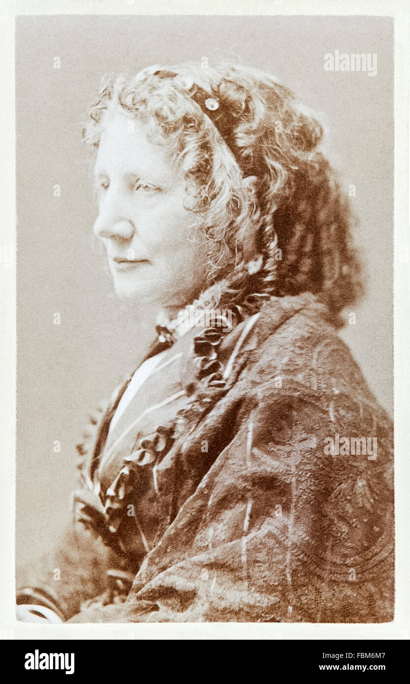 Harriet Beecher Stowe (1811-1896) author of 'Uncle Tom's Cabin; or, Life Among the Lowly' published - Stock Image