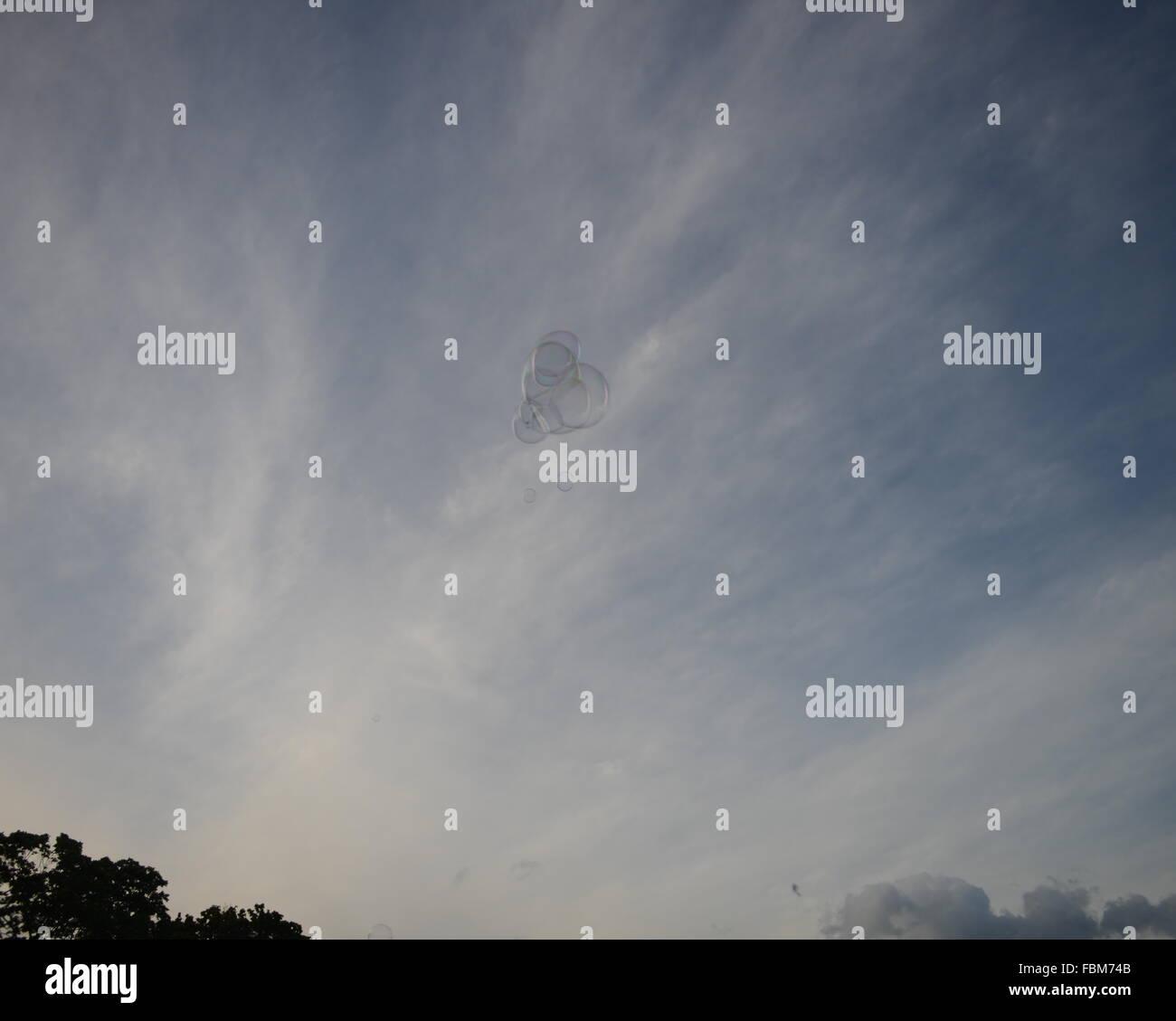 Soap Suds In Sky - Stock Image