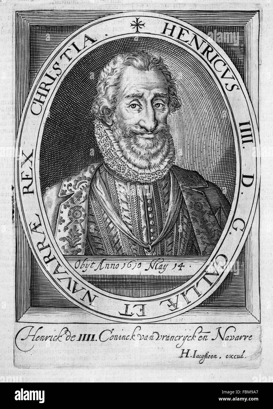 HENRY IV OF FRANCE (1553-1610) Stock Photo