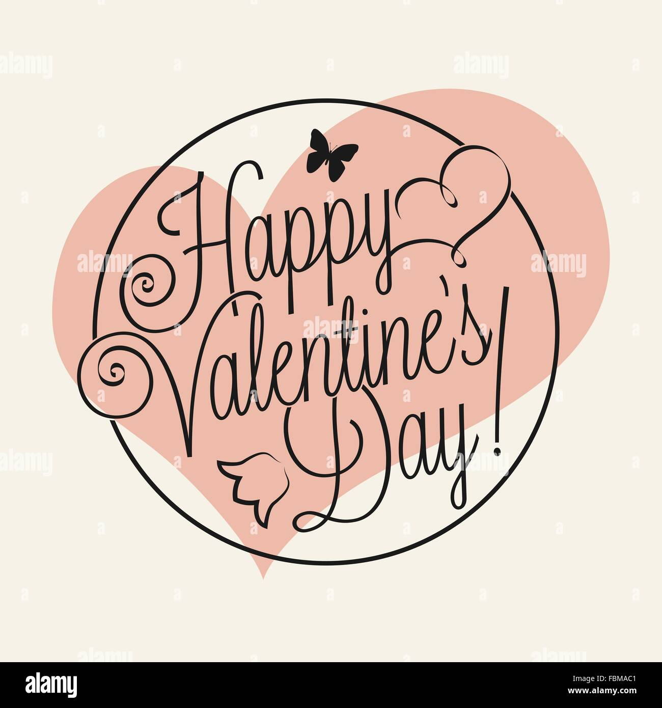 Happy Valentine S Day Hand Lettering For Your Design Stock Vector