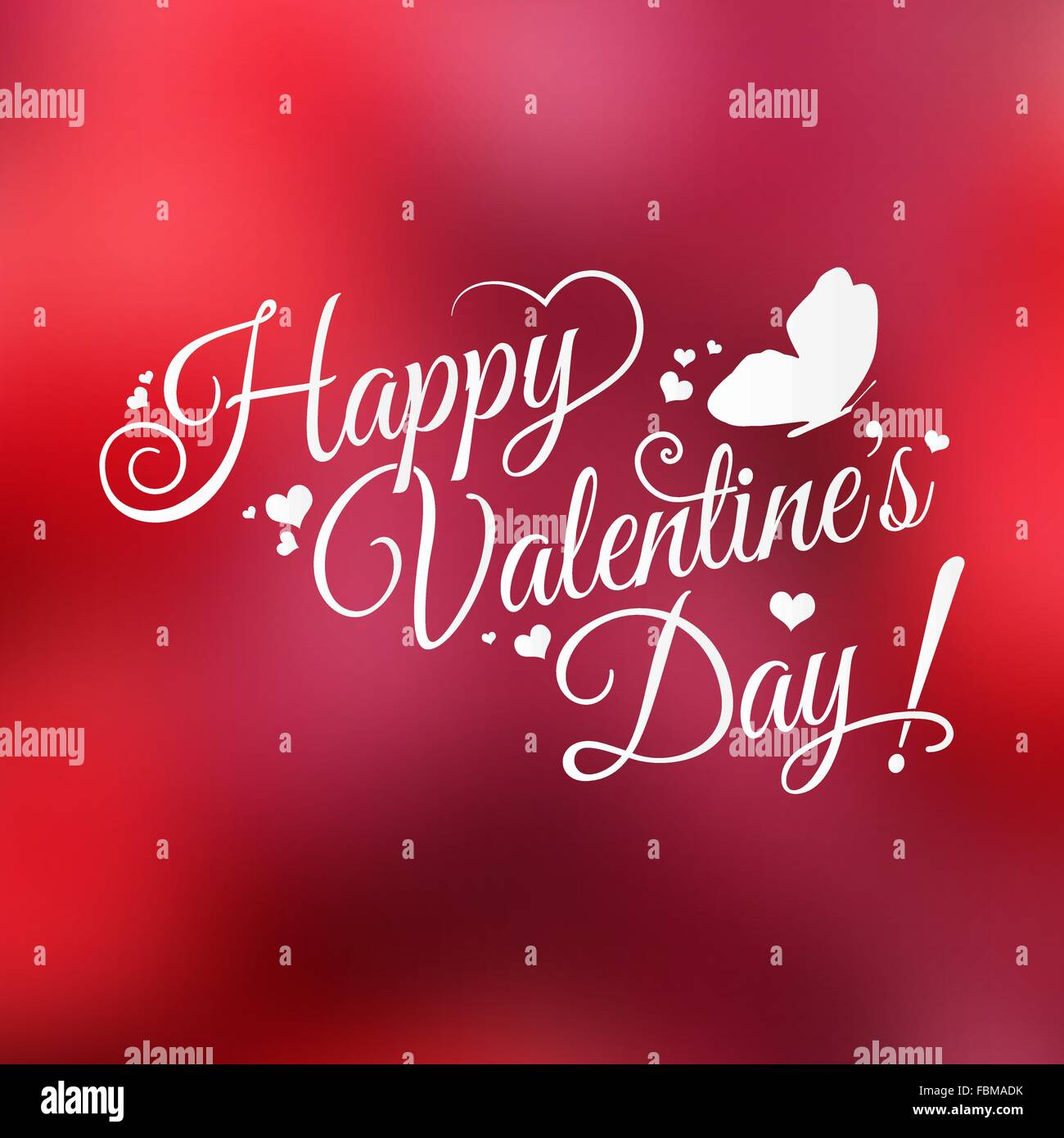 Happy Valentine's Day hand lettering on blurred background for your design - Stock Vector