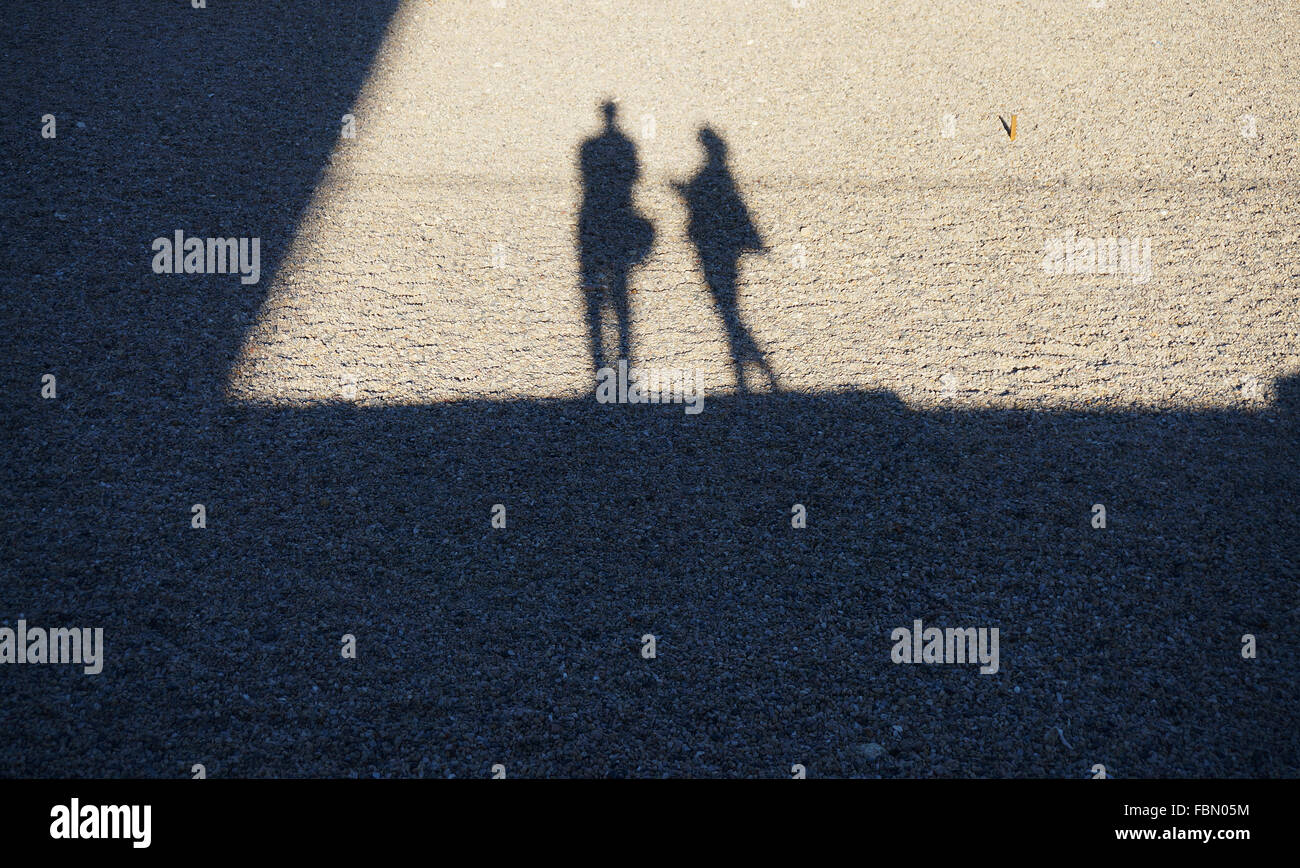 Shadow Of People On Ground - Stock Image