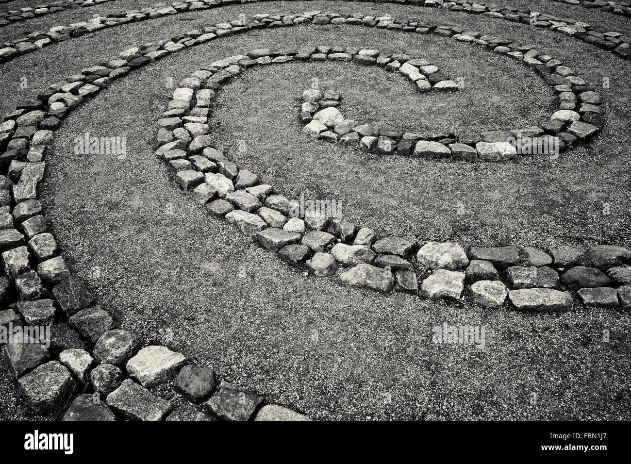Full Frame Shot Of Zen Garden - Stock Image