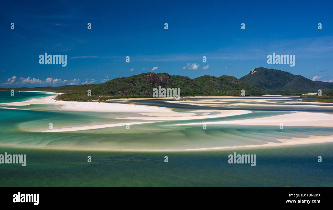 Hill inlet, Whitsundays - Stock Image