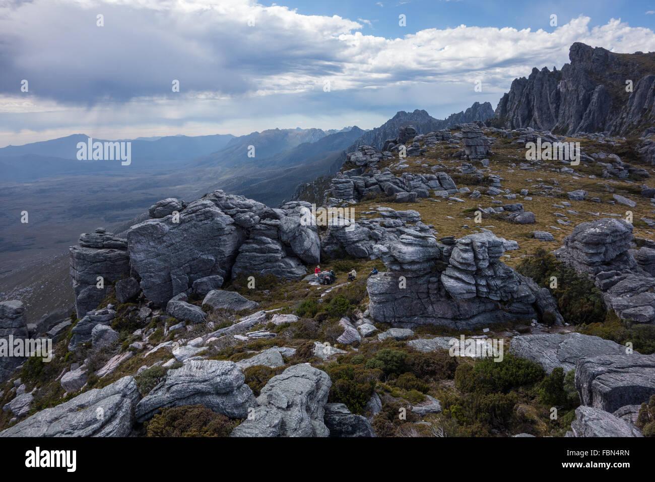Western Arthurs range, Tasmania - Stock Image