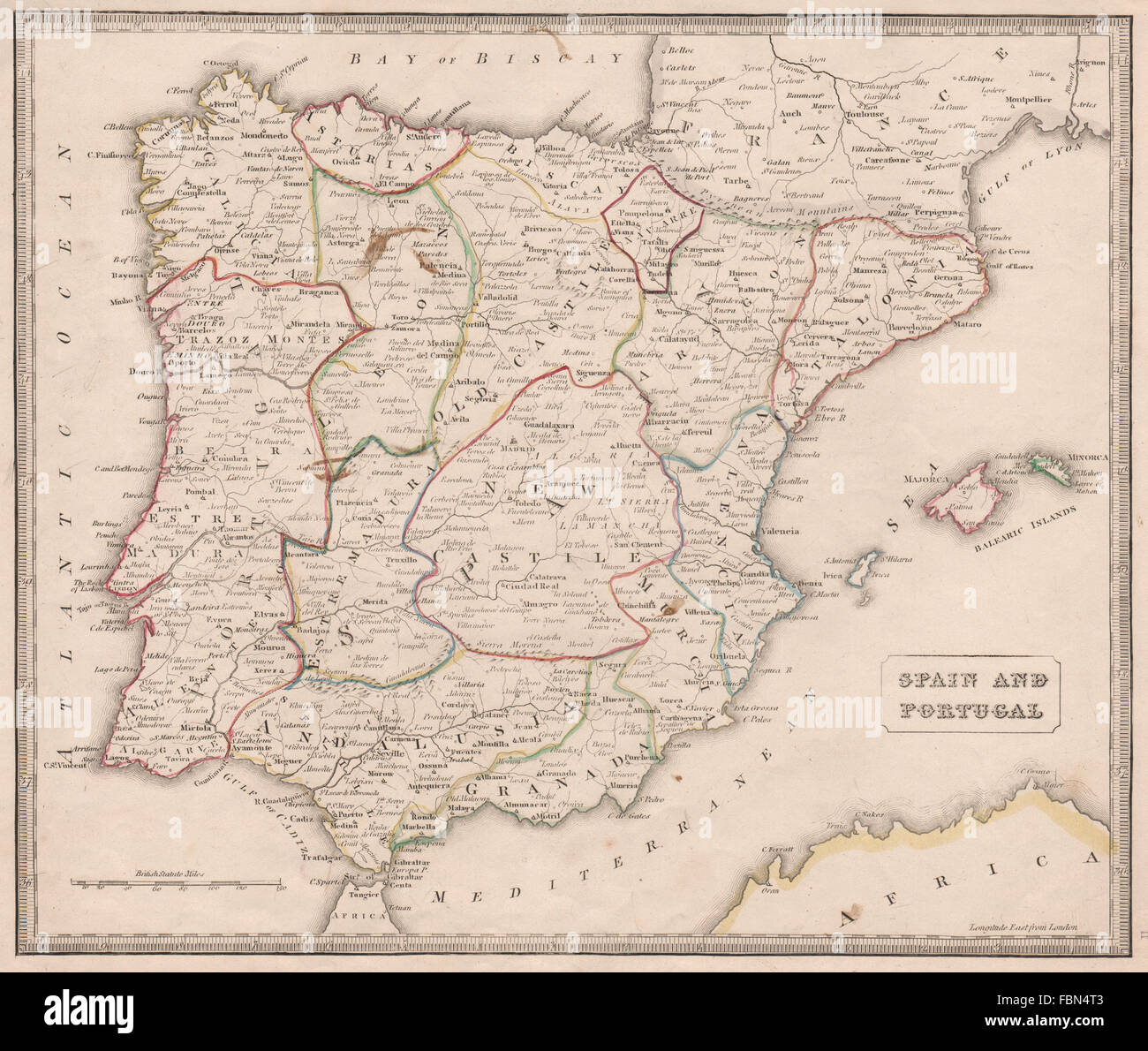 SPAIN & PORTUGAL. Provinces rivers key towns. Original colour Stock on physical characteristics of spain, symbols of spain, major lakes of spain, countries and capitals of spain, key map of mali, strawberry feild in spain, key map of yemen, regions of spain, key map of united arab emirates, key geography, key map of greece, map from spain, key map of maldives, physical features of spain, key map of sudan, key map europe, key map texas, thematic maps of spain, zip code of spain, key map of nauru,