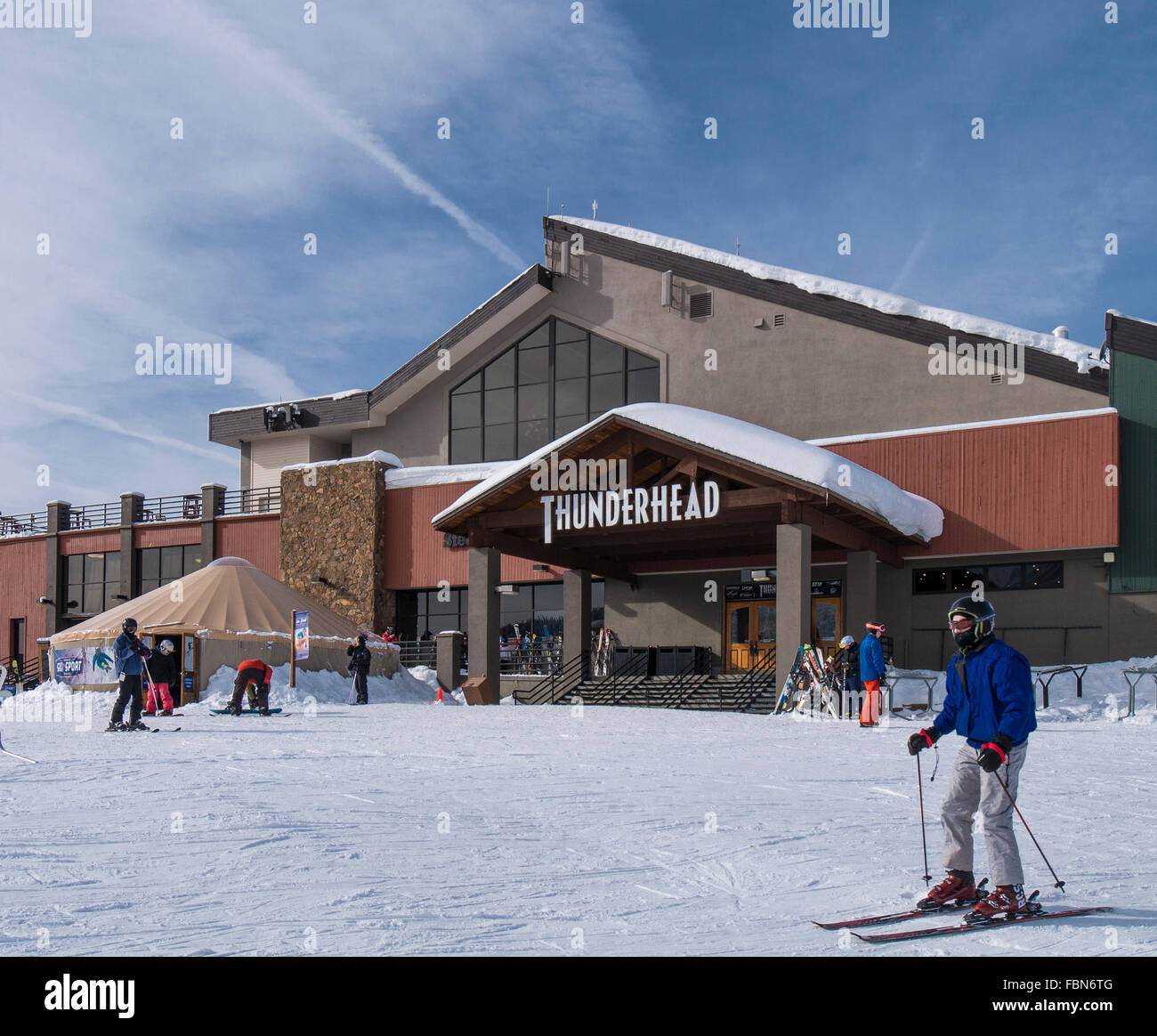 Thunderhead lodge, Steamboat Ski Resort, Steamboat Springs, Colorado. - Stock Image