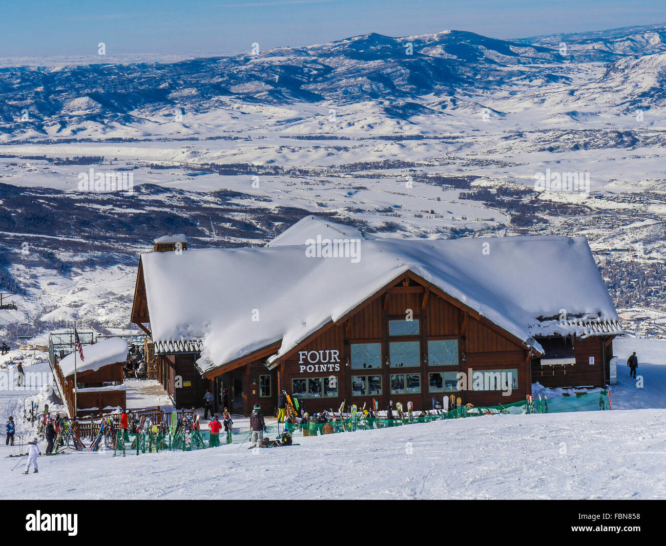 view of four points lodge, steamboat ski resort, steamboat springs